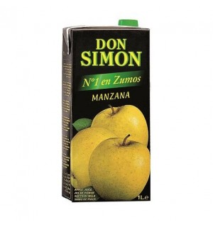 ZUMO D.SIMON MANZANA BK. 1 L