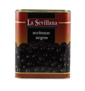 ACEITUNAS SEVILLANA NEGRAS 180/200 8 KG