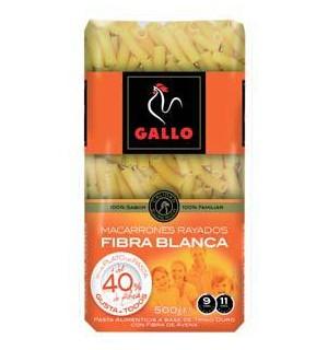 MACARRONES GALLO RICOS FIBRA 500 GR