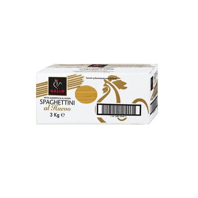 SPAGHETTINI GALLO HUEVO 3 KG