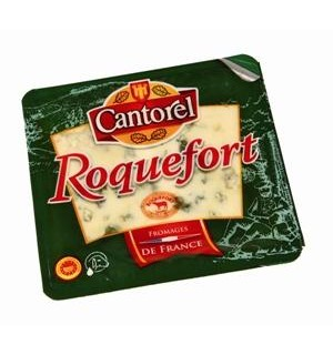QUESO ROQUEFORT CANTOREL PORCION. 100 GR