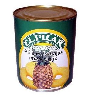 PIÑA PILAR RODAJAS JUGO LT. 822 GR
