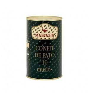 CONFIT MALVASIA PATO MUSLOS 10 UN LT.4 K