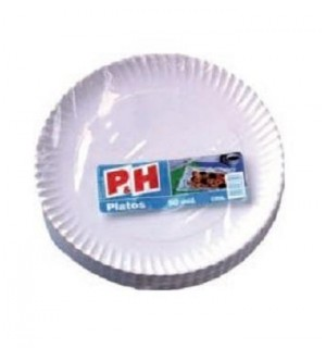 PLATOS P&H CARTON 23 CM 50 UN