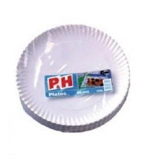 PLATOS P&H CARTON 23 CM 50 UN