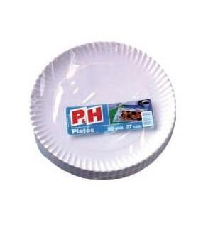 PLATO P&H CARTON 27 CM 50 UN