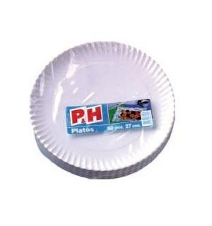 PLATOS P&H CARTON 27 CM 50 UN