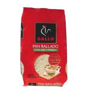 PAN RALLADO GALLO AJO/PEREJIL 250 GR