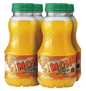 SIMON LIFE NARANJA PET. 20 CL PK-4