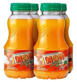 SIMON LIFE MANDARINA PET. 20 CL PK-4