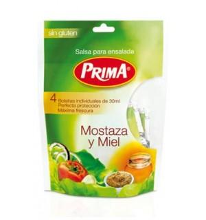 SALSA PRIMA MOSTAZA-MIEL BOLSA 30 GR*4UN