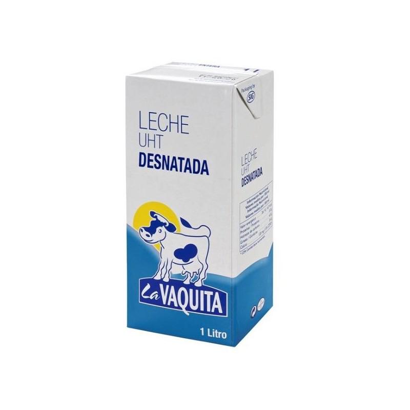 LECHE LA VAQUITA DESNATADA BK. 1 L