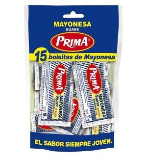 MAYONESA PRIMA PORC.10 GR. 15 UN
