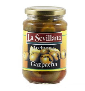 ACEITUNAS SEVILLANA GAZPACHA 370 GR
