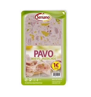 PAVO SERRANO HUEVO-PISTACHO LONC.100 GR