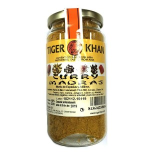 CURRY MADRAS TIGER KHAN POLVO 200 GR