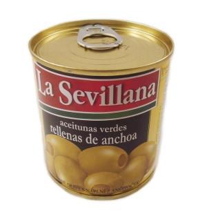 ACEITUNAS SEVILLANA MANZ.R/ANCHOA 85 GR
