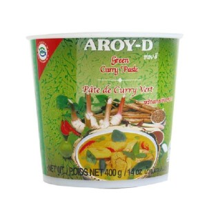 CURRY AROY-D PASTA VERDE 400 GR