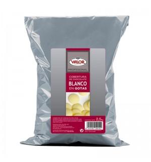 COBERT.CHOC.VALOR GOTAS BLANCO 2.5 KG