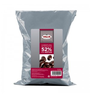 COBERT.CHOC.VALOR GOTAS 52% 2.5 KG