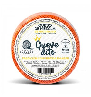 QUESO QUEVEDITO MEZCLA SEMICURADO 650 GR
