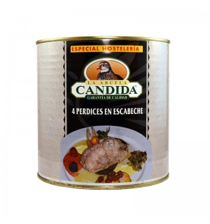 PERDIZ A.CANDIDA ESCABECHE 4 UN 2.6 KG