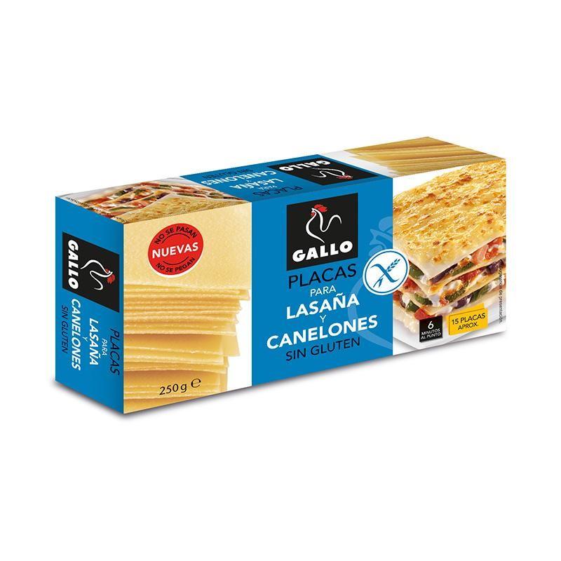 LASAÑA-CANELONES GALLO S/GLUTEN 15U 250G
