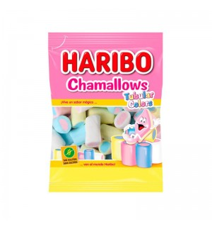 NUBES HARIBO CHAMALOWS TUB.COLORES 250GR