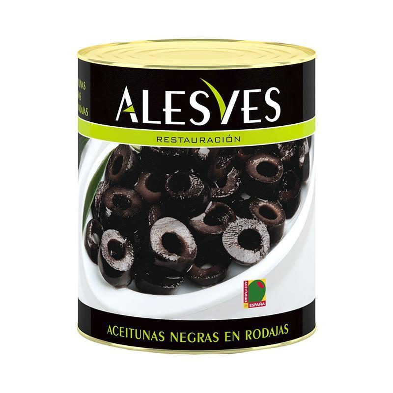 ACEITUNAS ALESVES NEGRAS RODAJAS 3.1 KG