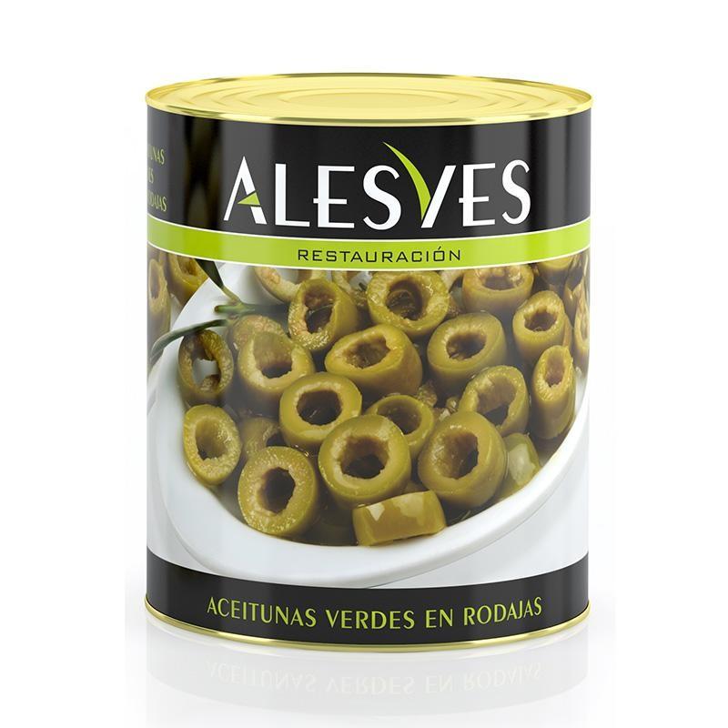 ACEITUNAS ALESVES VERDES RODAJAS 3.1 KG