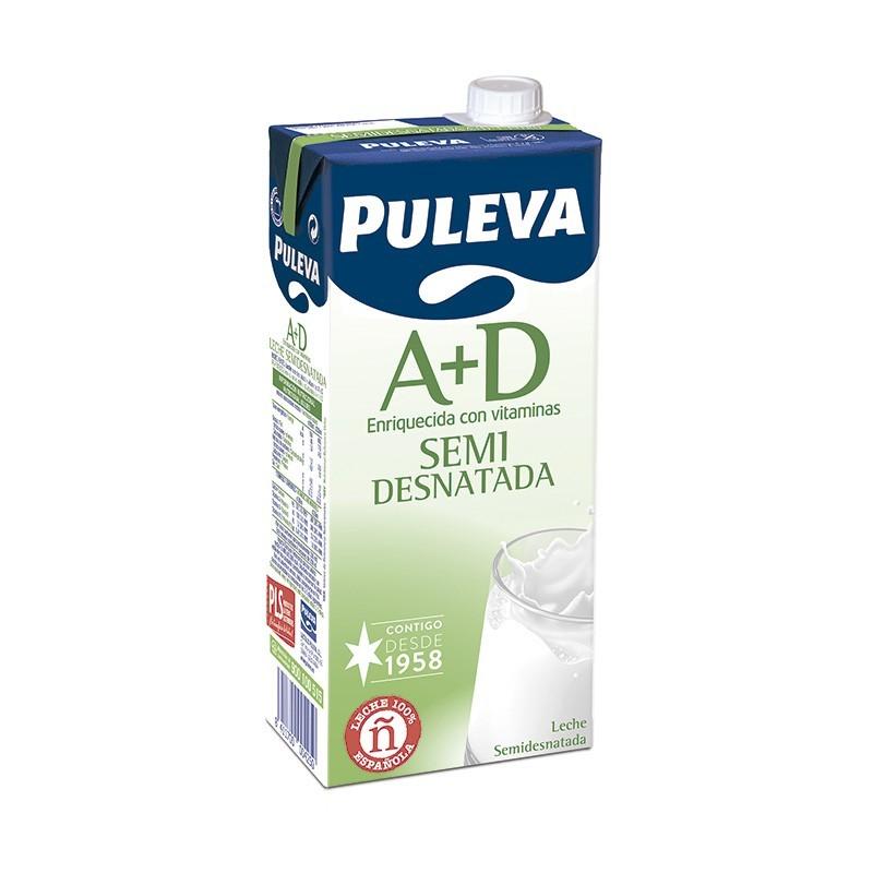 LECHE PULEVA SEMIDESNATADA A+D BK. 1 L