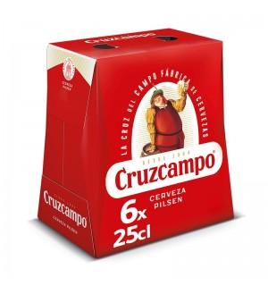 CERVEZA CRUZCAMPO BT. 25 CL PK-6