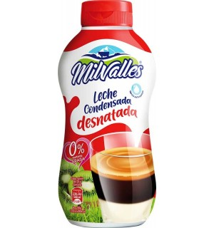 Leche condensada desnatada Milvalles 450gr