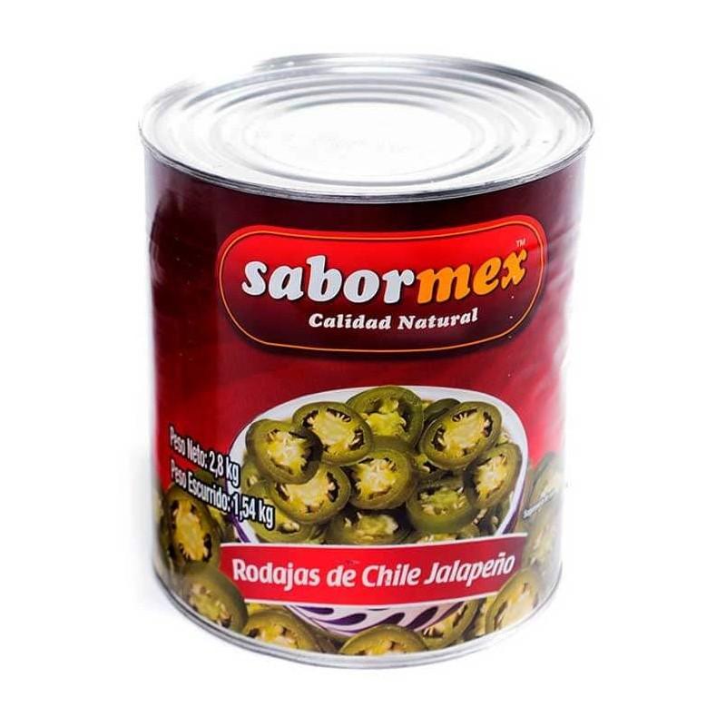 CHILE SABORMEX JALAPEÑO RODAJAS LT 2.8KG