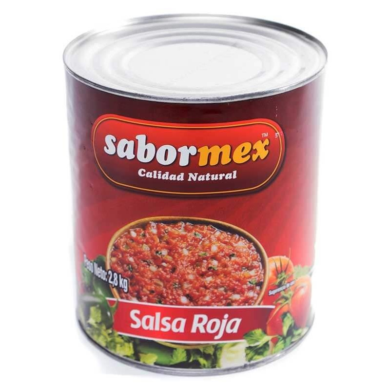 SALSA MEXICANA SABORMEX ROJA LT.2.8 KG