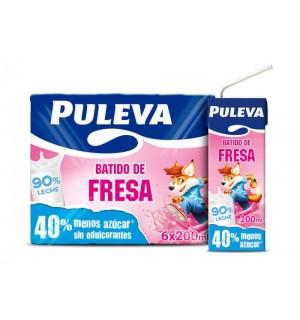BATIDO PULEVA FRESA BK. 20 CL PK-6